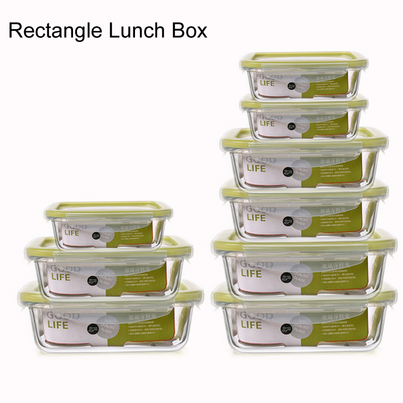 Glass Meal Prep Containers Lunch Box Food Storage Containers BPA-free With Airtight Lids Glass Bento Box Microwave Freezer