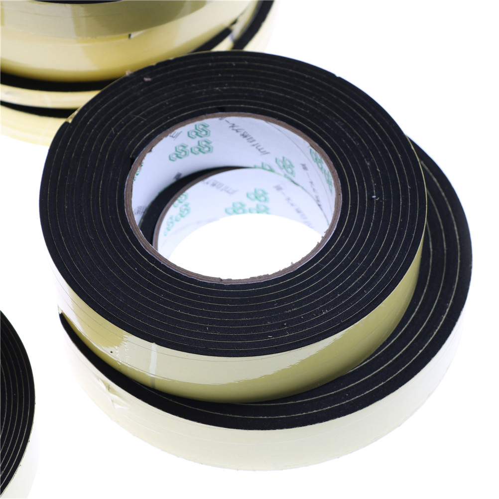 Foam Self Adhesive Draught Excluder Strip Sealing Tape Adhesive Tape Rubber Weather Strip E/D/I-type3/4/5 Meter Window Door
