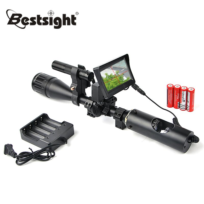 Hunting Night Riflescope Tactical Digital Infrared Night Vision With Battery Monitor and Flashlight Visao Noturna new hot hunting tactical digital infrared monocular binoculars night vision with monitor and infrared flashlight for riflescopes