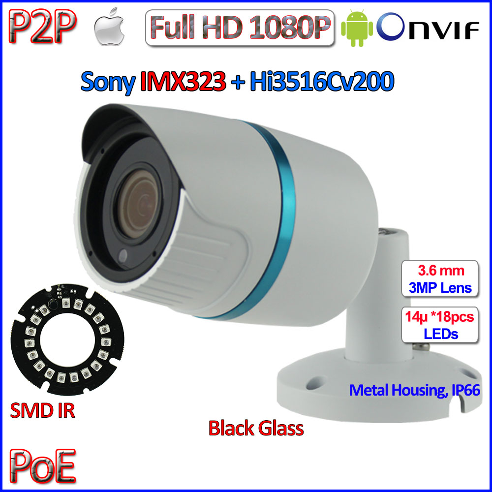 HOT 2MP POE mini ip camera 1080P ONVIF 2 4 cctv outdoor camera IMX323 Sensor IP66