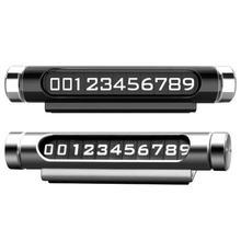 Световой Скрытая поворотный временная парковка карты номер телефона магнитное уведомление пластина для украшения автомобиля авто аксессуары