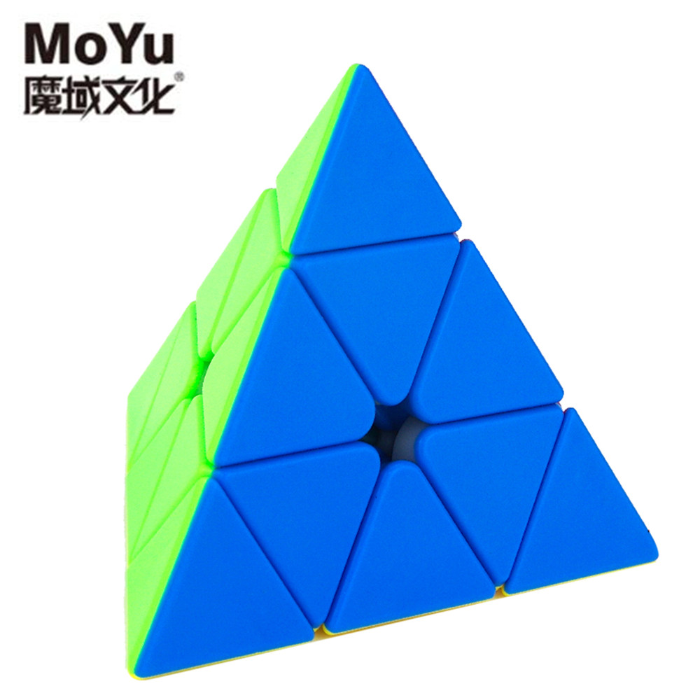 MoYu Pyraminx Magic Cube Puzzle Toys for Challenging magic cube iq puzzle star color assorted