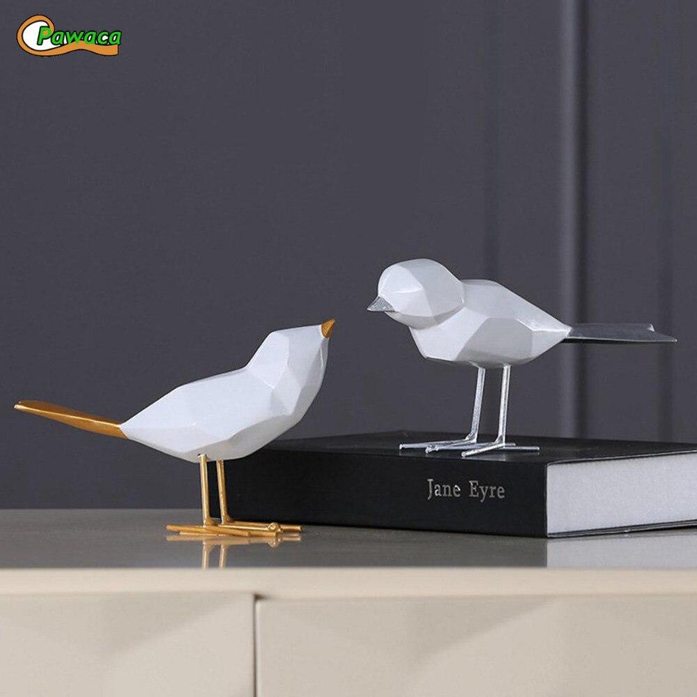 Nordic Minimalist Original Resin Bird Figurine Home Furnishing Decor Craft For Christmas Peace Dove Statue Home Office Mascot