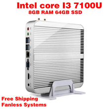Мини-ПК Intel 7e Gen Кабы Lac Windows 10 i3 7100U 8 ГБ ОПЕРАТИВНОЙ ПАМЯТИ 64 ГБ SSD Графический 620 300 М Wi-Fi TV Box Бесплатная Доставка usb 3.0