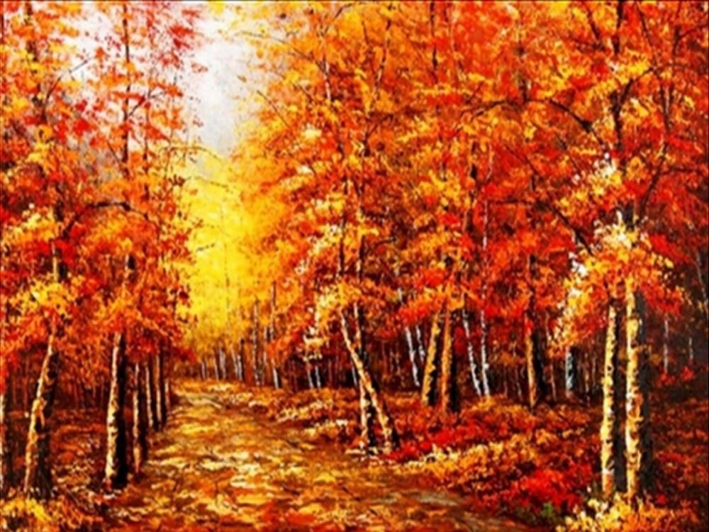 Bricolage diamant peinture paysage de l'automne automne