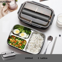 304 Stainless Steel Thermos Thermal Lunch Box Whit Bag Set Kid Adult Bento Boxs Leakproof Japanese Style Food Container Portable
