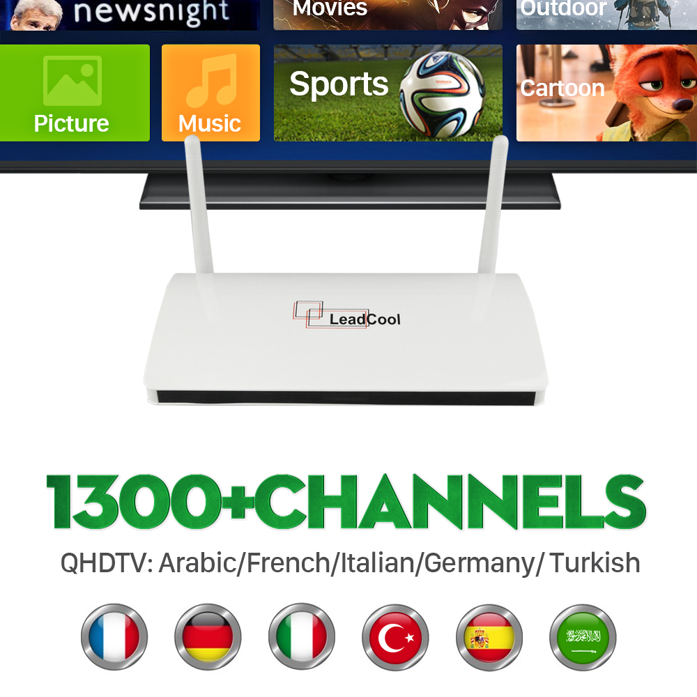 ФОТО Android TV Box Arabic IPTV STB channels subscription QHDTV Sports IT UK DE French European 900+HD Abonnement  Live APK Included