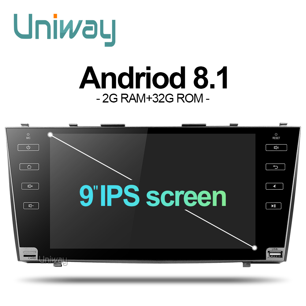 AKMR9071 uniway 2G 32G android 8 1 car dvd gps player for toyota camry 2007 2008