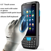 Barcode PDA Android 4.5 inch Touch screen 4200mah Battery Android 7.0 OS Handheld data terminal pda with sim card slot