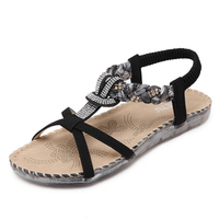 Women Sandals 2018 Bohemia Slippers Summer Beach Sandals Women Soft Bottom Ladies Flat Sandals Shoes Flats