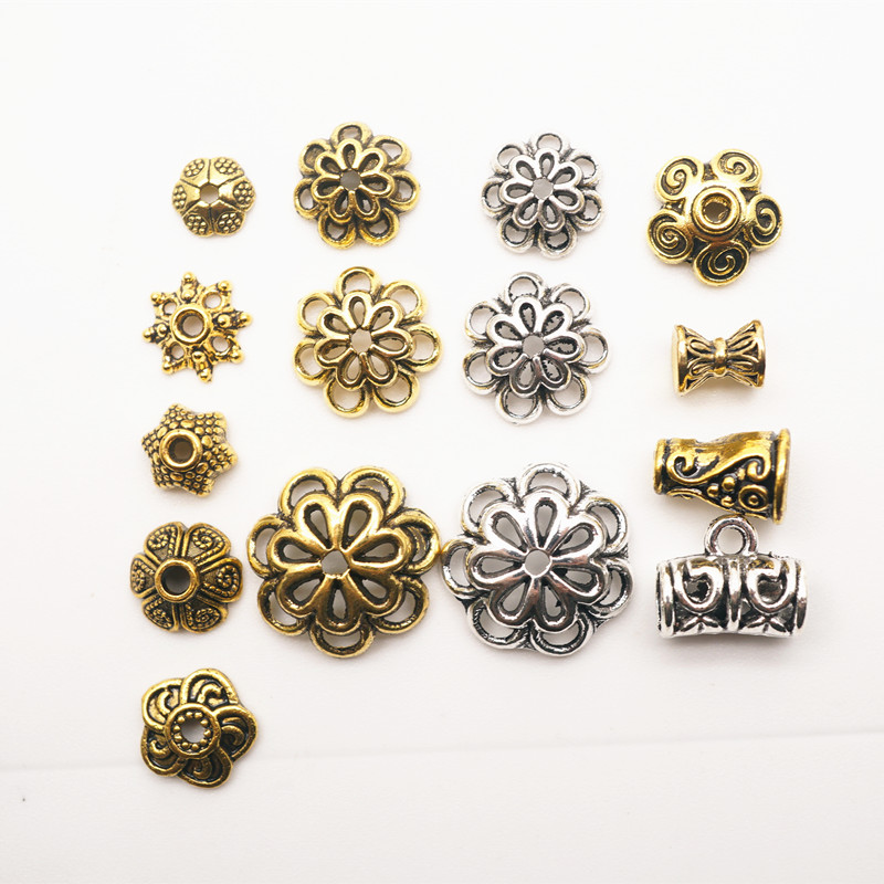 Zinc Alloy Tibetan Bead Caps Combination Fit 6-10mm Beads Bali Style Beads Making for Jewelry HK146 bead roller for jewelry making perfect polymer clay beads rectangle transparent 10 2x6 4x1 9cm 2 sets b23360 yiwu