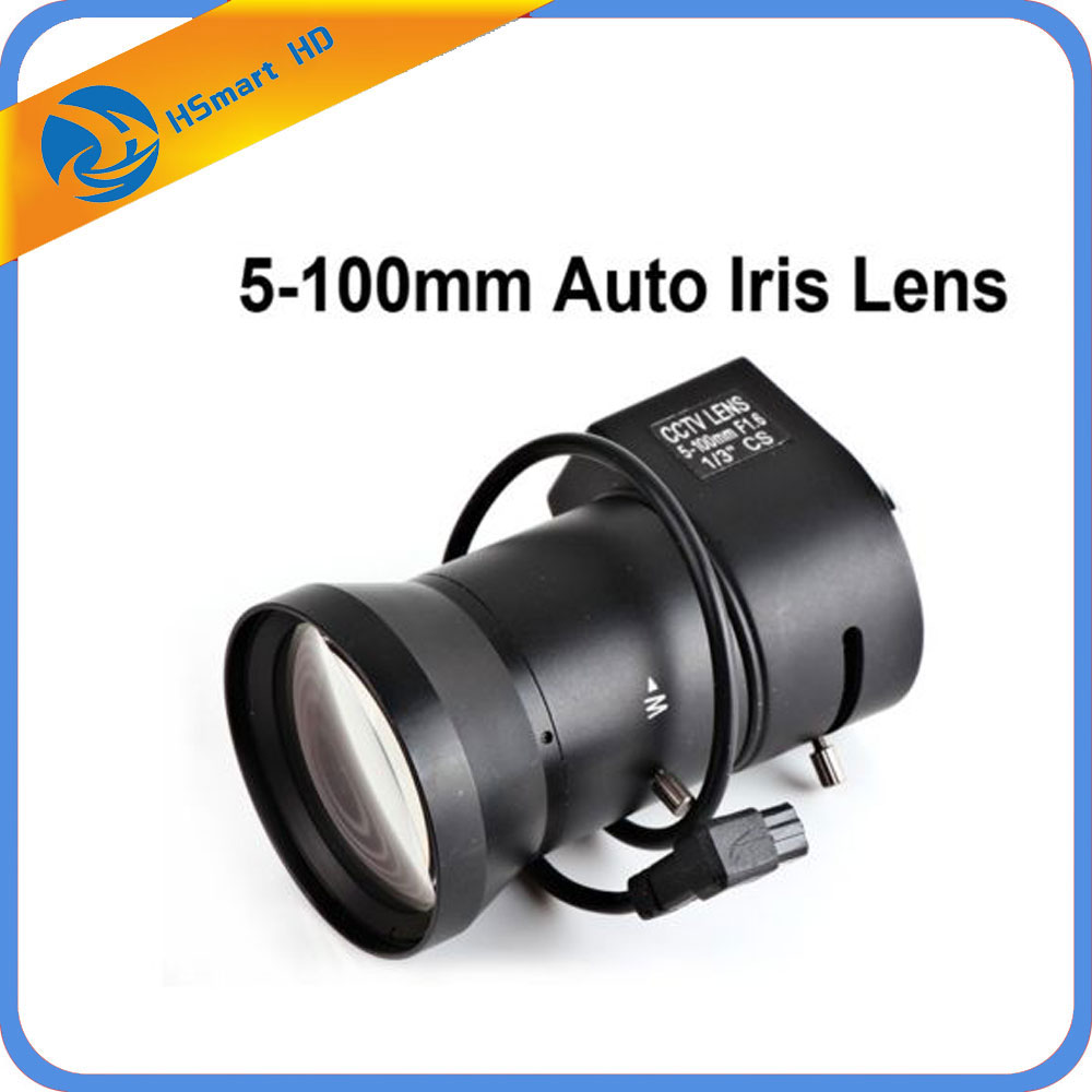 Vari-Focal 5~100mm F1.6 1/3 Auto Iris CS mount DC Drive Lens for Security CCTV цены
