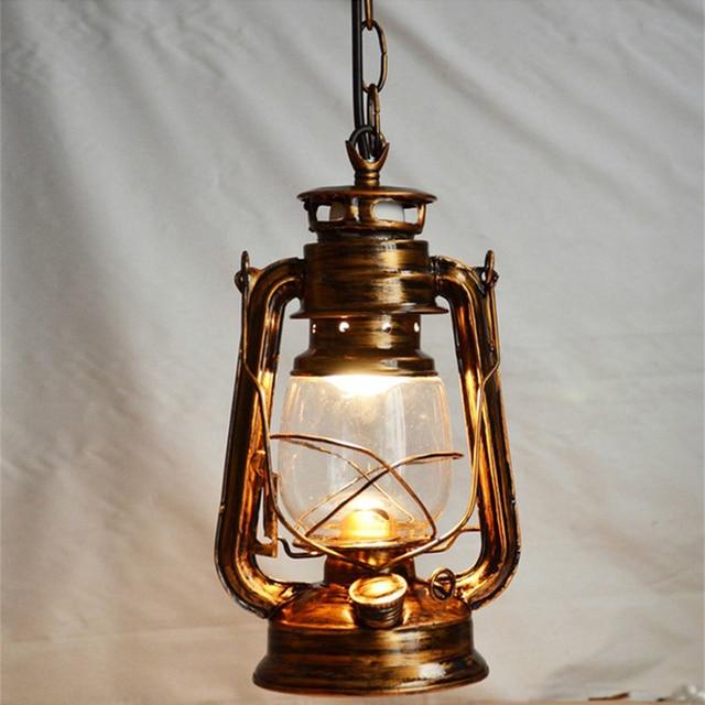 Nordic Nostalgic Lantern Edison Pendant Light Vintage Creative Kerosene Lamp Restaurant Bar Hanging