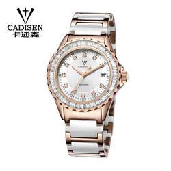 Новинка 2018 года Женские часы Элитный бренд золото керамика ремешок браслет Кварцевые часы сапфировое стекло