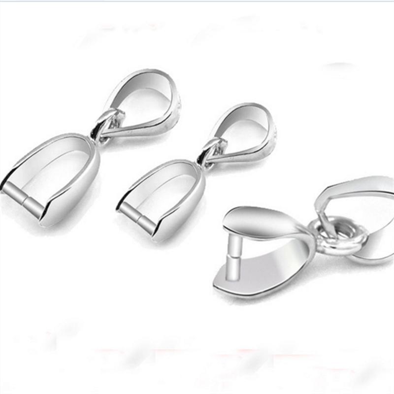 9fd173252e5a Franqueo exento 50 unids L modelo 925 plata esterlina clip accesorios  colgante de plata collar