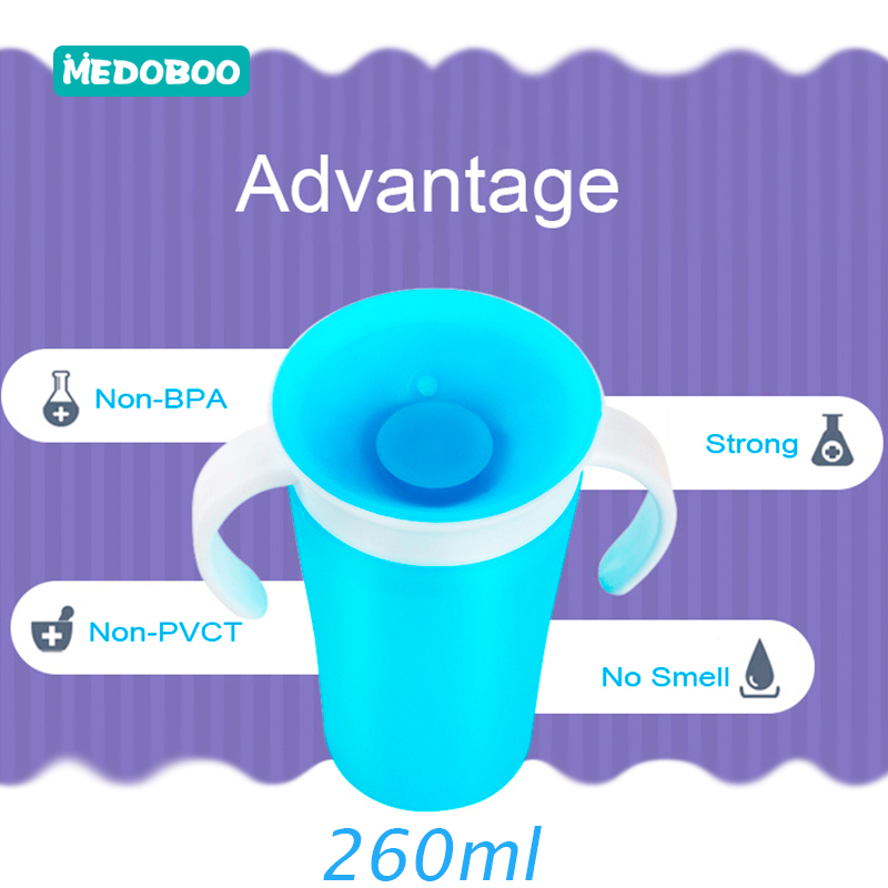 Medoboo Baby 360 Degree Cups Children Training Cup Safety Silicone PP Leak Proof Magic Cups Baby Water Bottle Cups BPA Free in Cups from Mother Kids