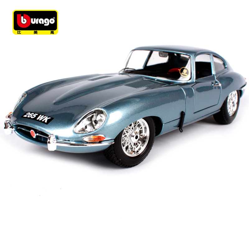Bburago 1:18 Jaguar e type coupe blue grey noble car diecast classic luxury car model motorcar version for men collecting 12044 стоимость
