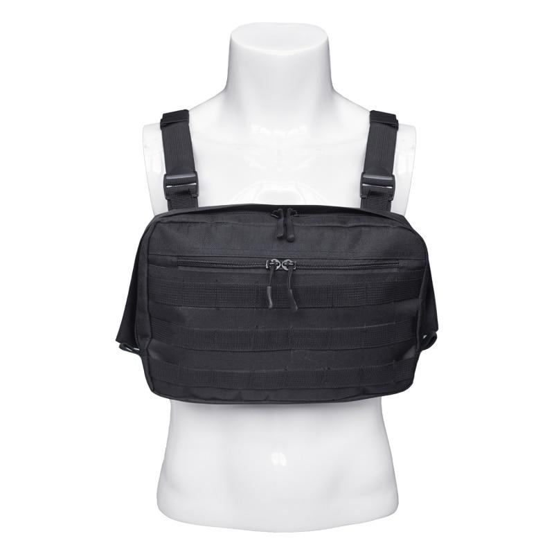 Gilet Streetwear Borse Uomini Sacchetto Di Tasche West Hip Chest Funzionale Marsupi Regolabili Rig Hop Kanye A Spalla Tactical fBdqx5Ovv