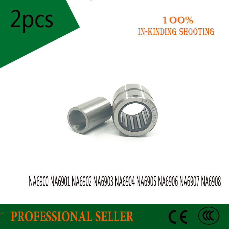 2PCS NA6900 NA6901 NA6902 NA6903 NA6904 NA6905 NA6906 NA6907 NA6908 Bearing Solid Collar Needle Roller Bearings With Inner Ring