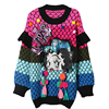 Fashion Girls New Designer Cheap Clothing Spring Sequined Runway Sweater Elegant Ladies Pullover Betty Boop Patchwork