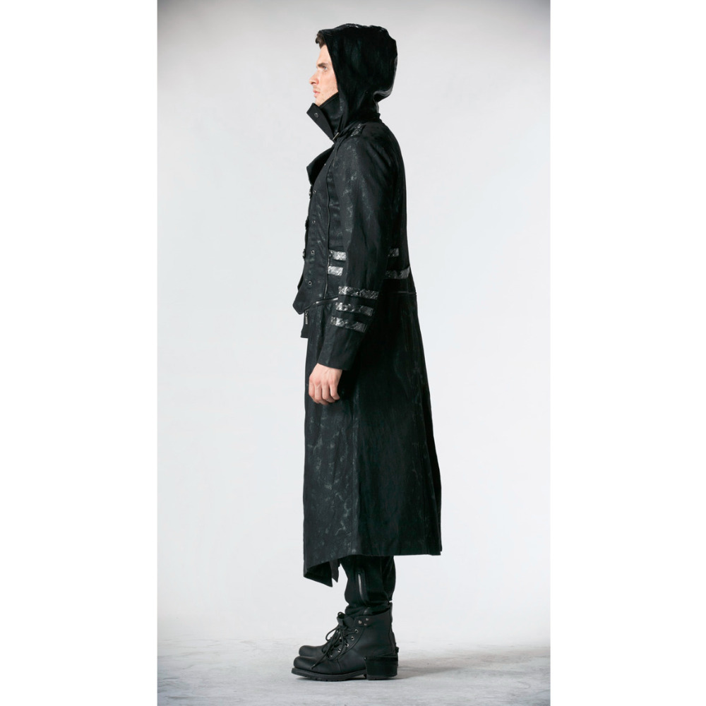 Punk Rave Mens Mens Punk Streampunk Visual Kei Gothic Dolg in kratek - Moška oblačila - Fotografija 2