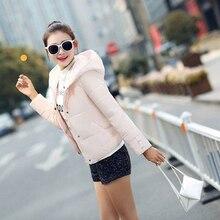 Новый женщин вниз куртки хлопка высокого качества отложным воротником с капюшоном зима parkea женщин куртки сгустите теплый моды пальто