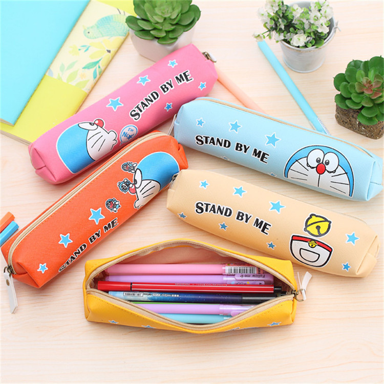Kawaii Doraemon Pencil Case Fabric School Supplies Bts Stationery Gift School Distinctive Pencil Bag School Supply Tool