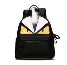 Корейский зима Метросексуал рюкзак мешок творческий маленький монстр пара Улица рюкзак ретро студенты