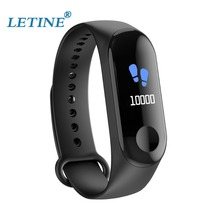 цены на Letine W3 Smart Bracelet Heart Rate Blood Pressure Monitor IP68 Waterproof GPS Smart band For Android IOS PK mi band 3  в интернет-магазинах