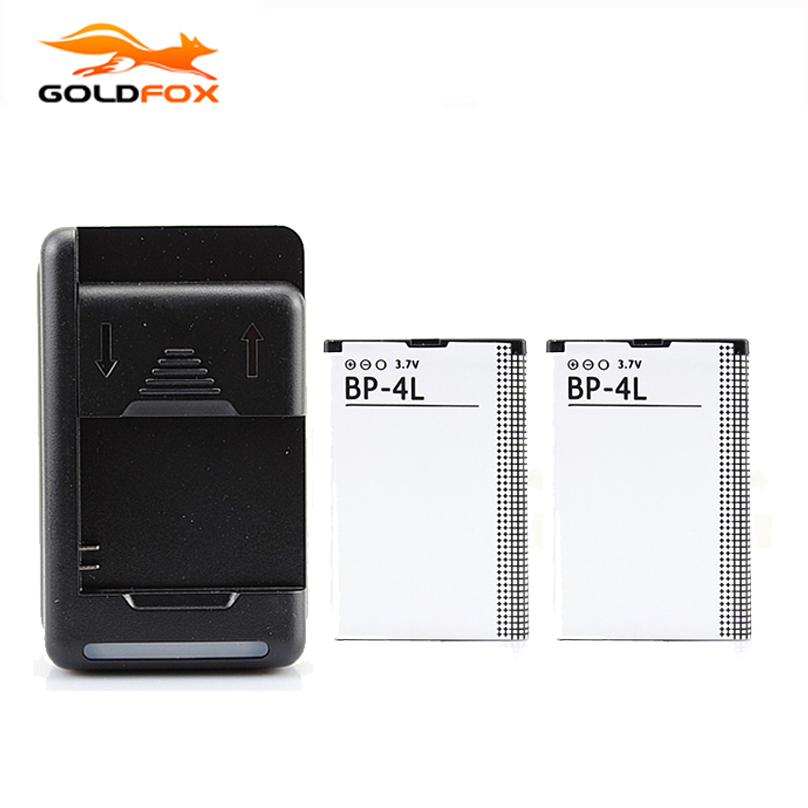 100% NEW 2pcs Battery +Wall Charger For <font><b>Nokia</b></font> E52 E55 E63 E71 E72 E73 N810 N97 E90 E95 6790 6760 <font><b>6650</b></font> BP-4L Battery image
