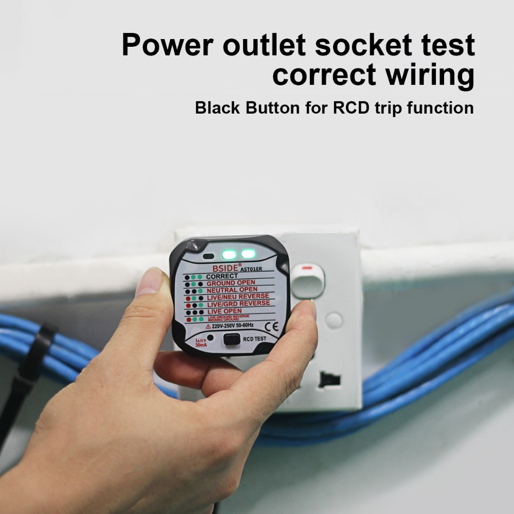 Socket Tester Outlet Eu Plug Automatic Electric Circuit Electrical Wiring Polarity Voltage Detector Wall Breaker Finder In Finders From Tools On