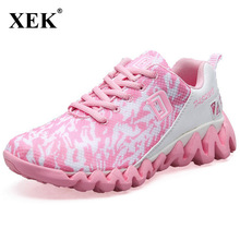 XEK 2018 New Sports Shoes Running Sneakers For Women Male Men Ladies Breathable Trainers Outdoor Walking