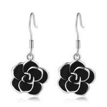 PISSENLIT Drop Earrings Black Flowers Wedding Charm Women Jewelry pendientes mujer moda 2019 Gold Earring Gift For Girl