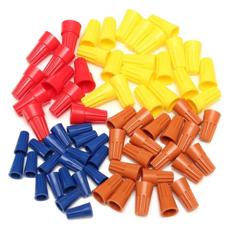 Lowest Price 70PCS Electrical Wire Twist Nut Connector Terminals ...