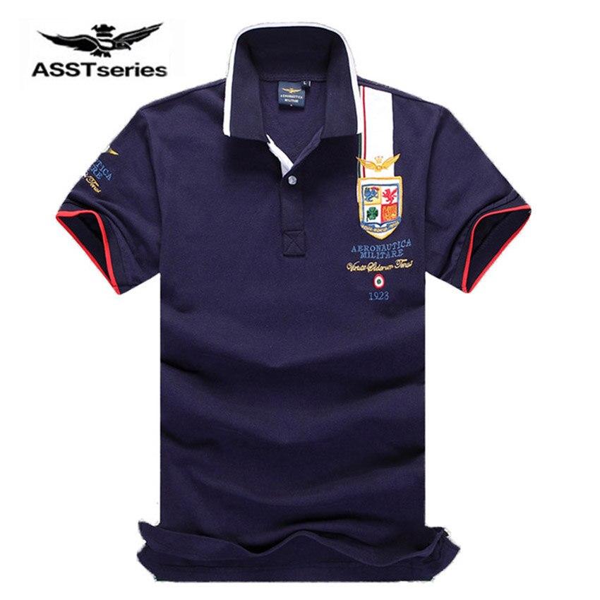 2018 Freies Verschiffen Explosive Sommer Tragen, Kurzarm Männer Reine Farbe Revers, Air Force One Herren Polo Shirt Cxy45 GroßEs Sortiment