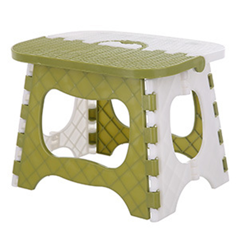 CHFL Plastic Folding Stool Thickening Chair Portable Home Furniture Children Convenient Dining Stool