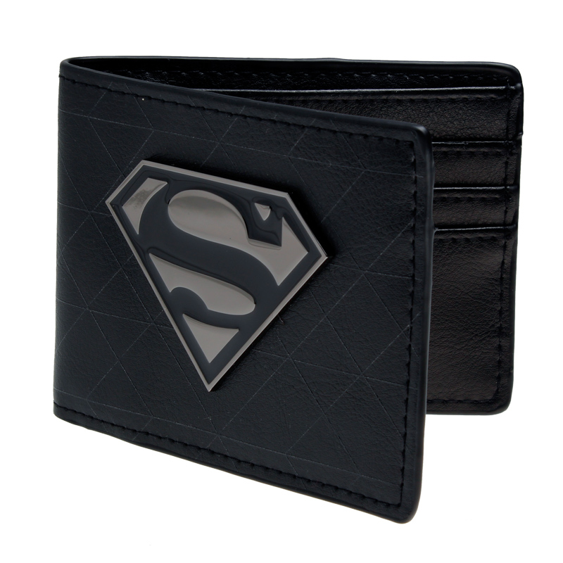 Seen superman animated cartoon wallet purse Young students wallet purse personality Blue superman's wallet  canvas DFT-1328 shivaki ssh i 127 be srh i 127 be ion