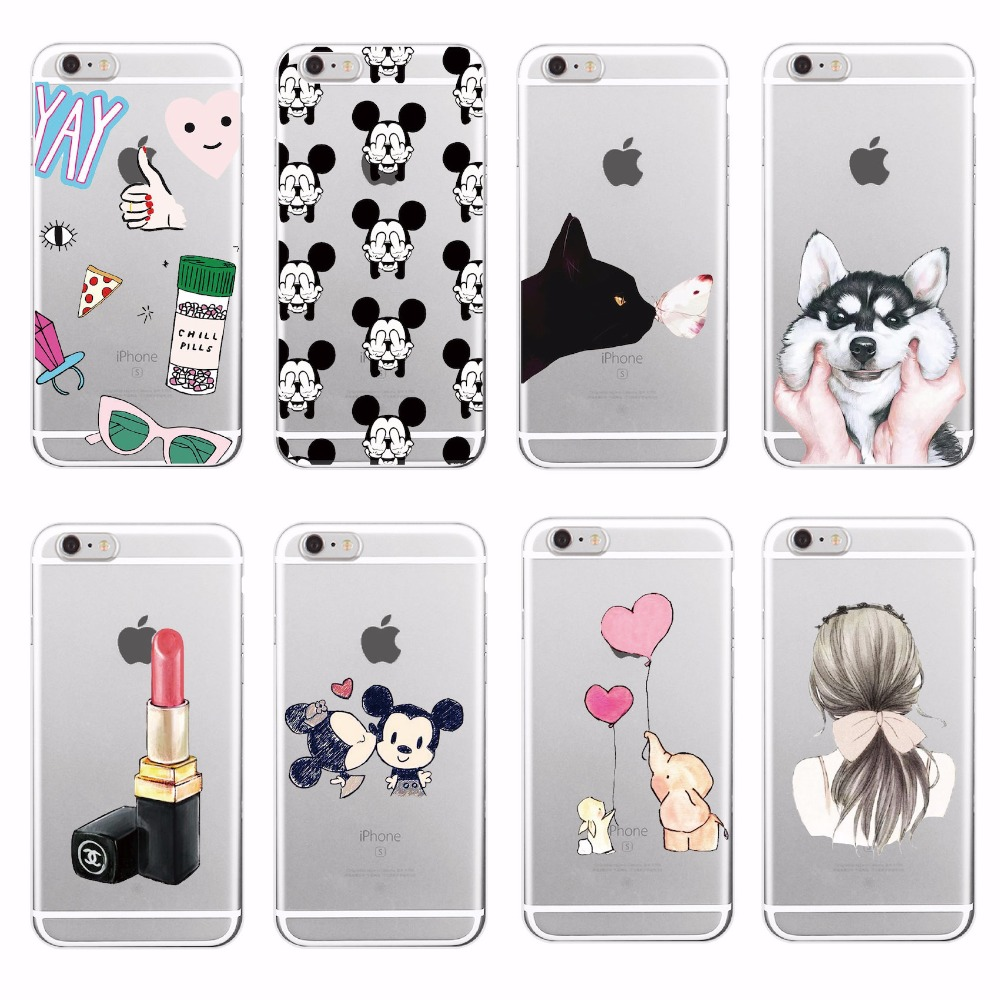 d3f1f3c37d5 Lovely Girly Lipstick Perfume Makeup Cat Butterfly Soft Tpu Phone Case  Fundas For iPhone 7Plus 7 6 6S 5 5S SE 4 Samsung Galaxy