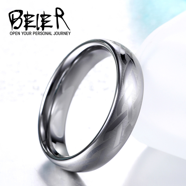 Beier New 2017 Royal Men S Fashion Dull Polish Tungsten Ring High Quality Wedding Jewelry Br
