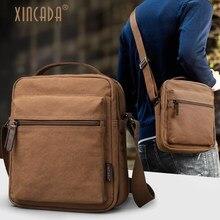 Купить с кэшбэком XINCADA Mens Bag Messenger Bag Canvas Shoulder Bags Travel Bags Man Purse Crossbody Sling Pack for Work Business