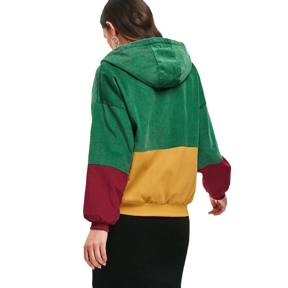 HTB1vYH7cBLN8KJjSZFPq6xoLXXa4 - Jackets Women Hip Hop Zipper Up Hoodies Coat female 2018 Casual Streetwear Outerwear PTC 302