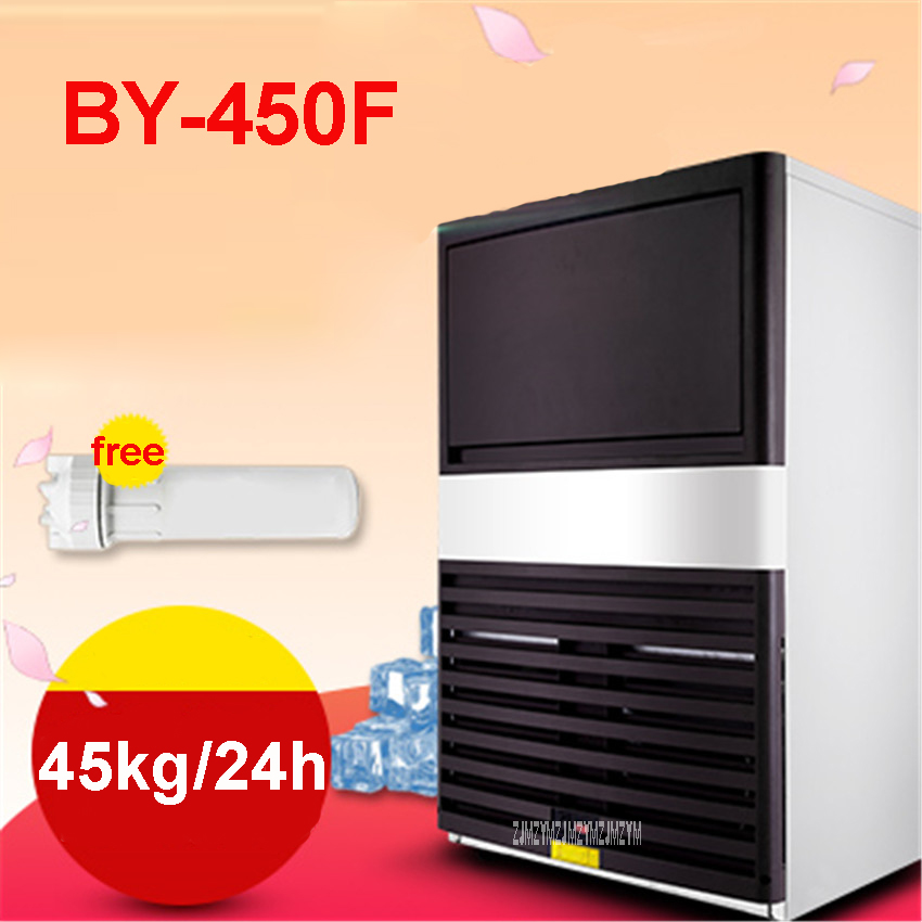 BY-450F 220-240V Commercial Ice Tea Party Ice Cream Shop With Automatic Ice Maker Shop 45kg / 24h Single Ice Time15-20 Minutes