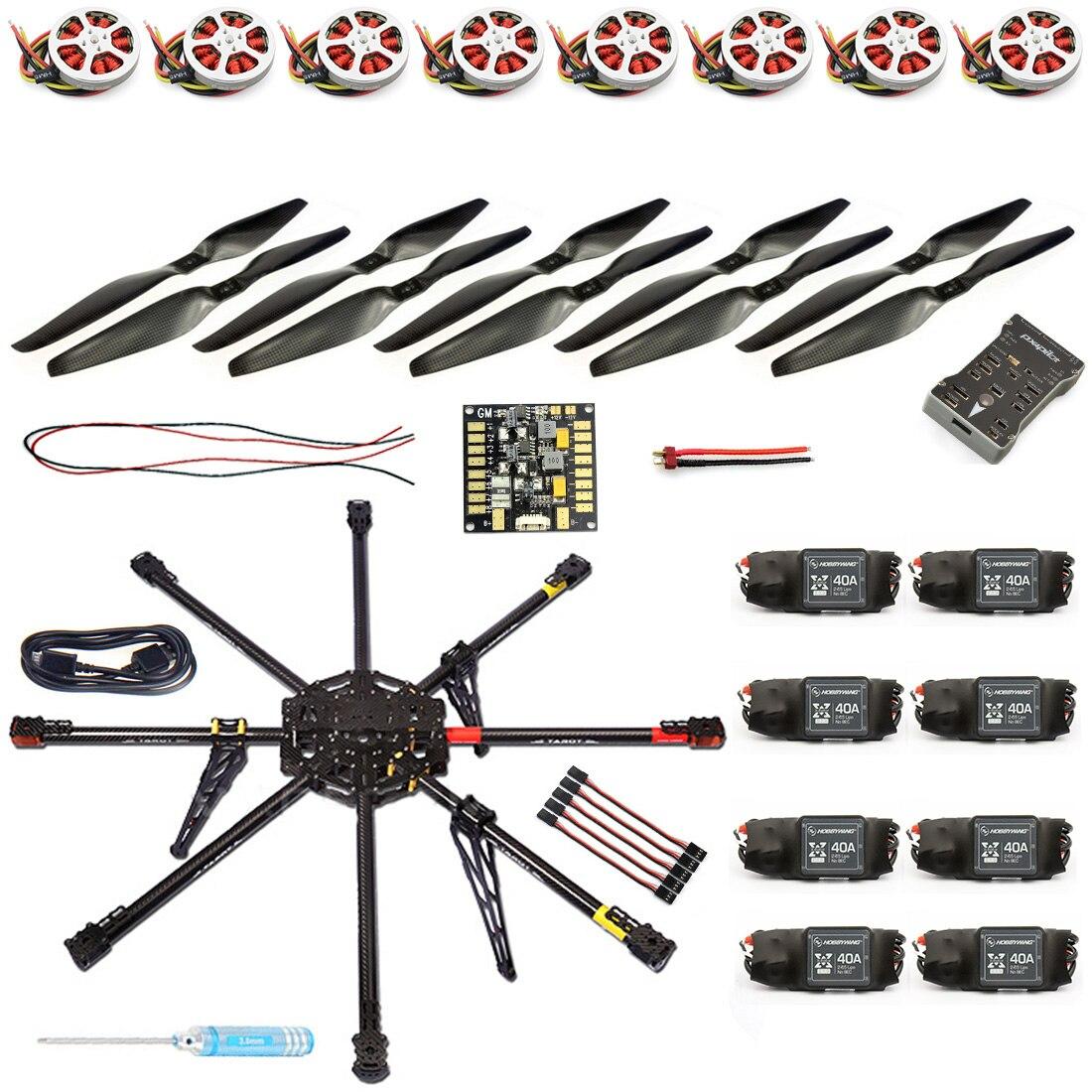 JMT bricolage 8 essieux Drone RC non assemblé 1000mm carbone Octocopter PX4 PIX M8N GPS RC Drone PNF Kit pas de batterie à distance FPV F04765-B