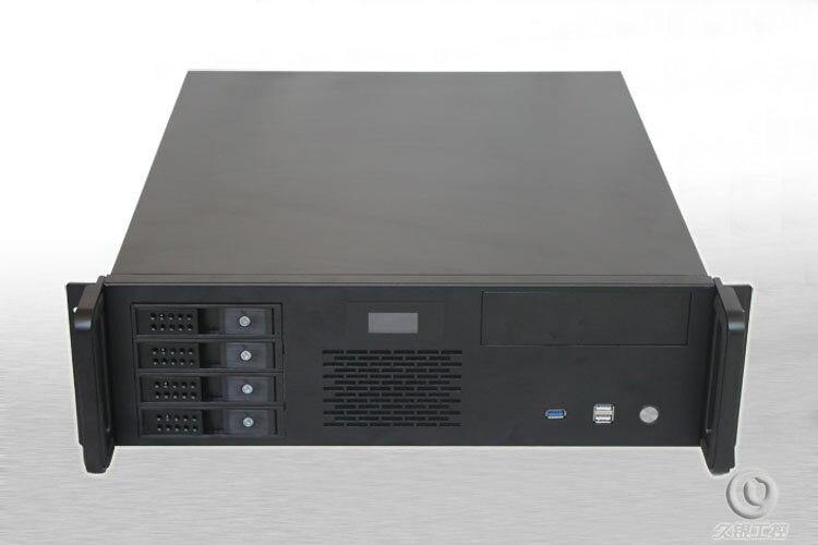 3U480 industrial font b server b font chassis Support PC board 4 hot swap bits LCD