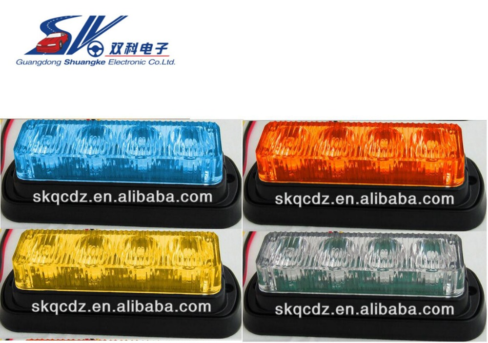 LED Security Strobe Warning Flashing Light for Truck Jeep head light 4W