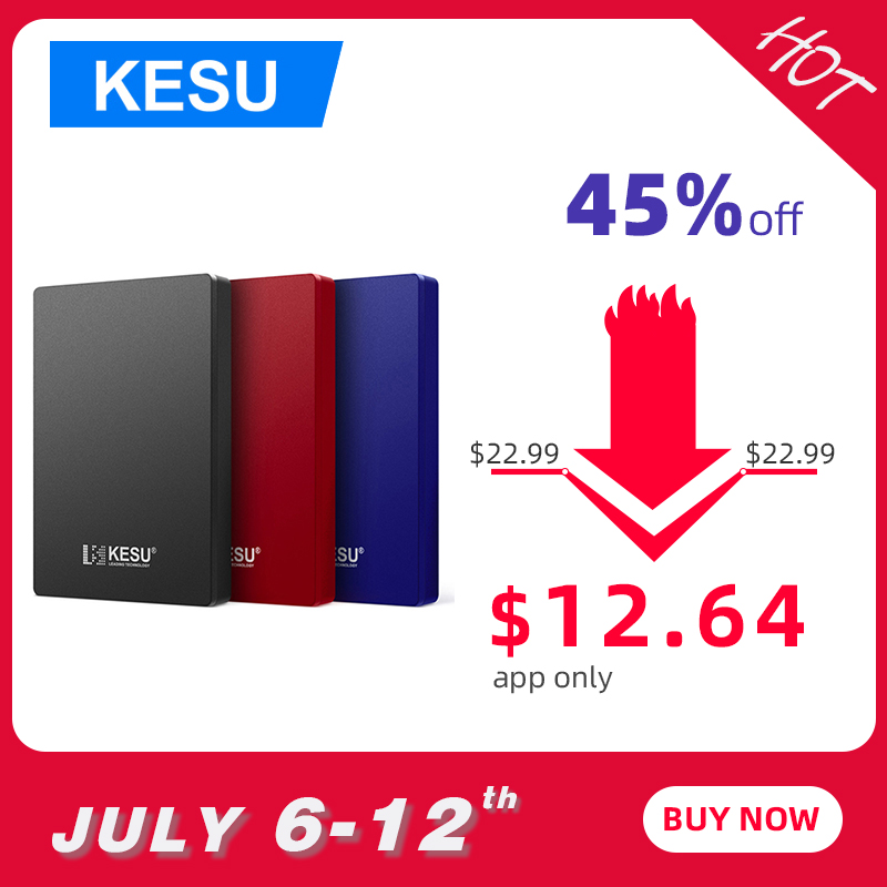 KESU 2.5 Inch External Hard Drive 160GB 320GB 500GB 1TB 2TB USB 3.0 HDD Portable External HD Hard Disk for Desktop Laptop Server Термос