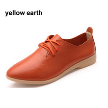 2017 New Spring Summer Women Shoes Genuine Leather Flats Popular Design Shoes Brand Women Casual Shoes