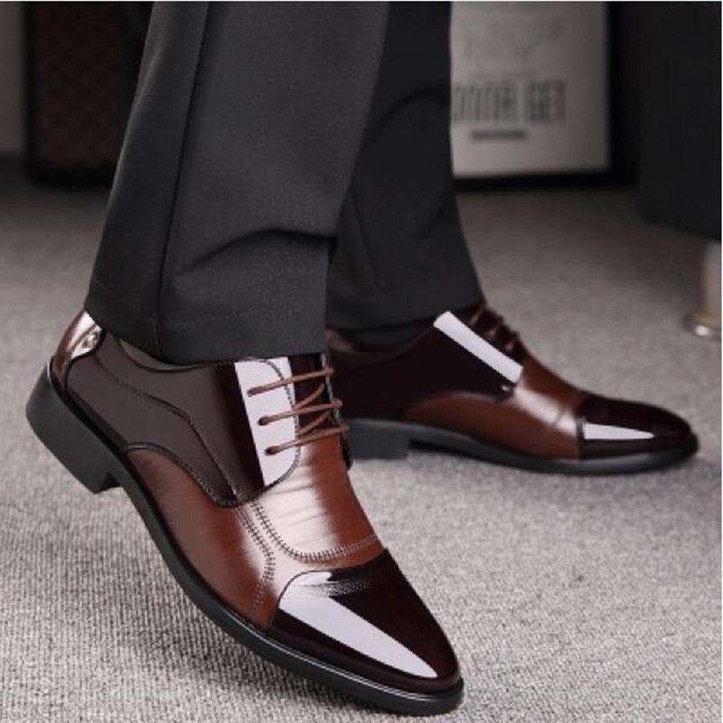 New Spring Fashion Oxford Business Men Shoes Mens Flats Zip Shoes