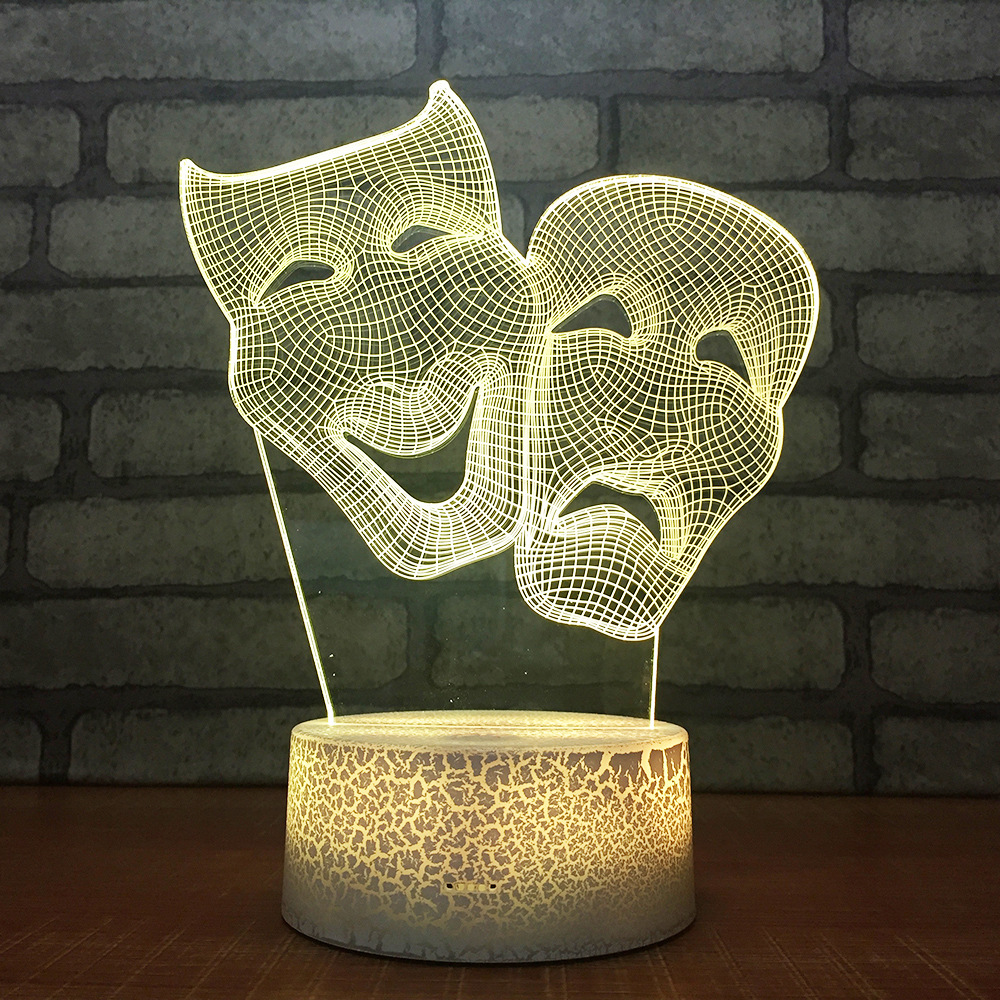 Cartoon Acrylic Lights Christmas Decorations Gift For Baby Room Lights Wholesale Lovely 7 Color Change 3d Table Lamps