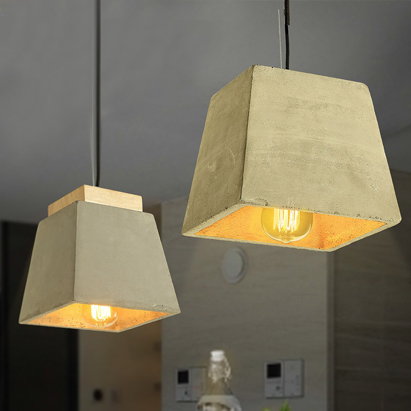 Lukloy American Loft Industrial Retro Pendant Light Creative Personality Nordic Restaurant Clothing Store Bar Cafe Cement Lamp eiceo nordic ancient art cement resin creative pendant lamp minimalist retro cement lampshade for indoor cafe bars decor light